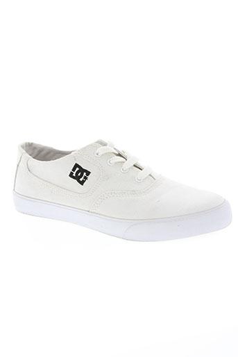 dc chaussures homme de couleur blanc