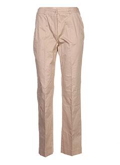 Pantalon casual beige GALEANDE pour femme