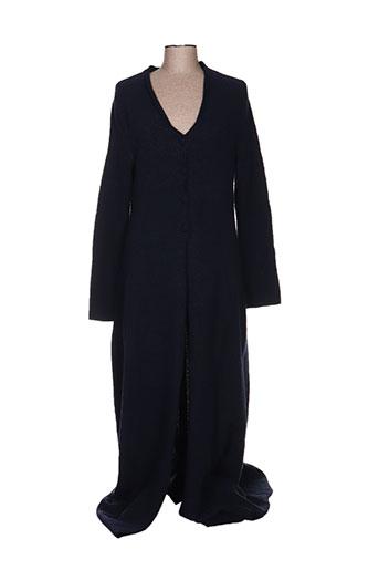 louise della manteaux femme de couleur bleu