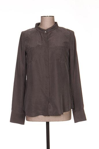 maxmara chemises femme de couleur gris