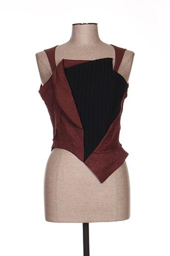 leïko chemises femme de couleur marron