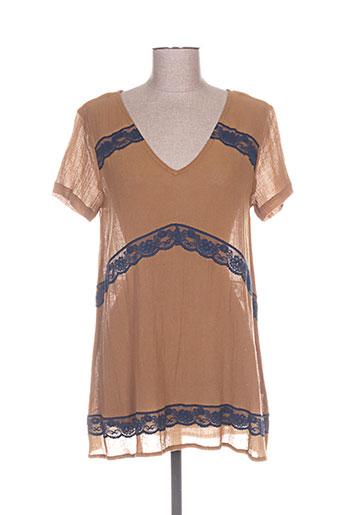 les piplett's chemises femme de couleur marron