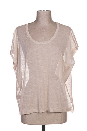 Pull col rond beige BOHEMIA pour femme