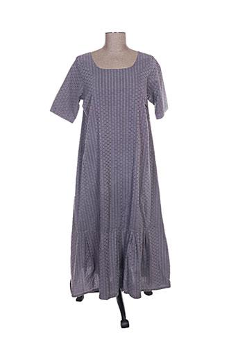 Robe longue violet AUREA VITA pour femme