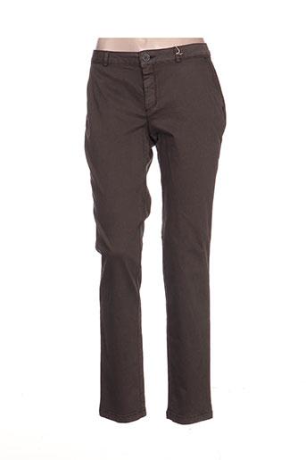 ese o ese pantalons femme de couleur gris