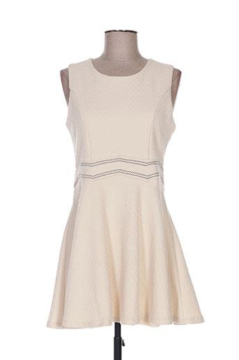 mini mignon robes fille de couleur beige