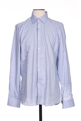 olymp chemises homme de couleur bleu