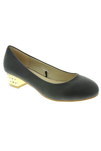 catisa chaussures femme de couleur noir
