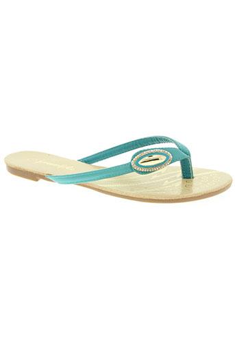 forever folie chaussures femme de couleur bleu