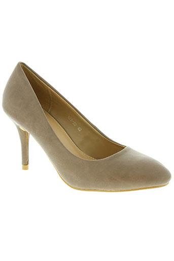 malien chaussures femme de couleur beige