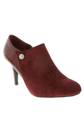 catisa chaussures femme de couleur rouge