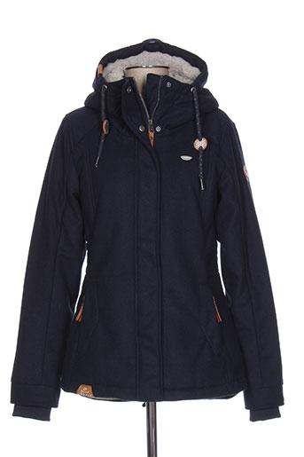 ragwear manteaux femme de couleur bleu