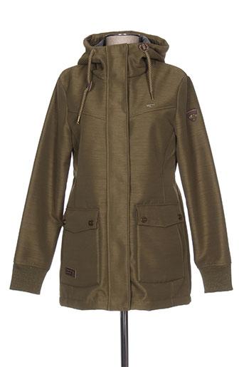 ragwear manteaux femme de couleur vert