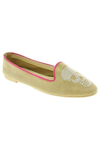 coco et abricot chaussures femme de couleur beige