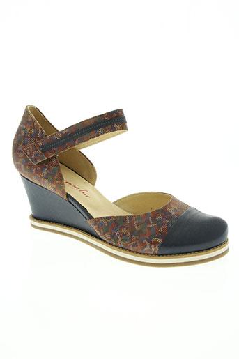 libre comme l'air chaussures femme de couleur bleu