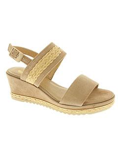Sandales/Nu pieds beige BE NATURAL pour femme