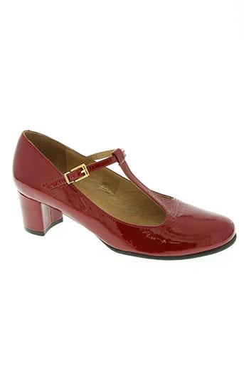 mikaela chaussures femme de couleur rouge