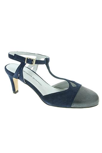 brenda zaro chaussures femme de couleur bleu