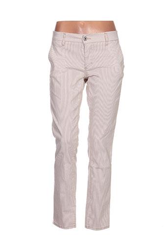 please pantalons femme de couleur beige