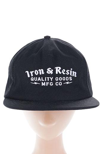 iron and resin accessoires homme de couleur noir