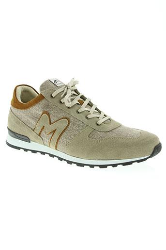 mascaret chaussures homme de couleur beige