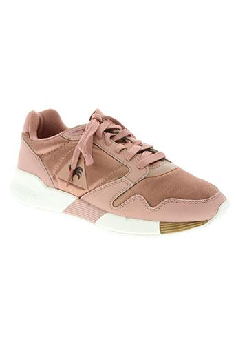 le coq sportif chaussures femme de couleur rose