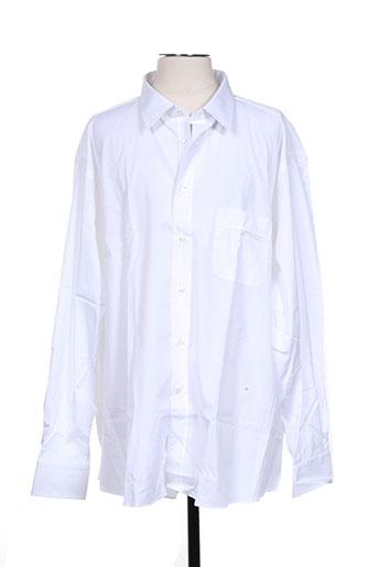 alain gauthier chemises homme de couleur blanc