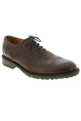 paradigma chaussures homme de couleur rouge