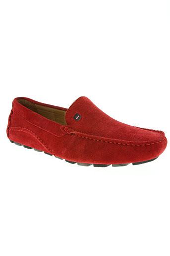 eden park chaussures homme de couleur rouge