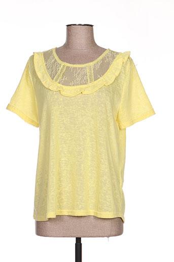 it hippie chemises femme de couleur jaune
