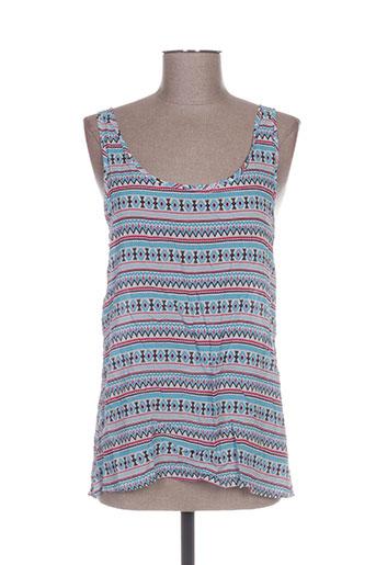 it hippie chemises femme de couleur bleu