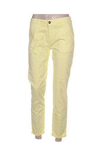 reiko pantacourts femme de couleur jaune