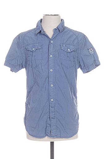 forex chemises homme de couleur bleu