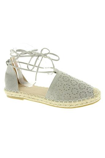 sixth sens chaussures femme de couleur gris