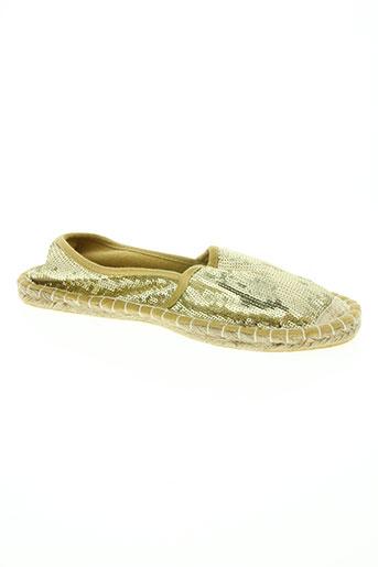 coco perla chaussures femme de couleur jaune