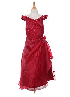 Robe longue rouge LES VOILIERS pour fille