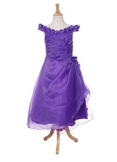 Robe longue violet LES VOILIERS pour fille