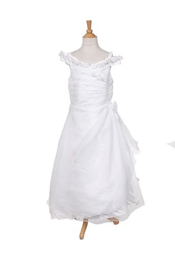 les voiliers robes fille de couleur blanc