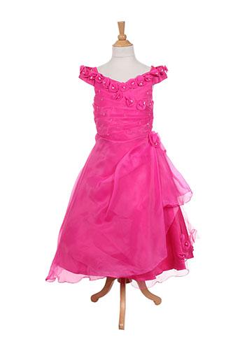 les voiliers robes fille de couleur rose