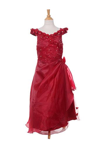les voiliers robes fille de couleur rouge