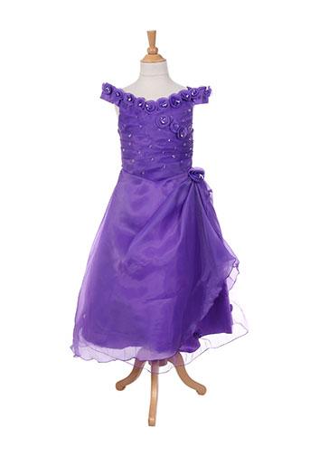 les voiliers robes fille de couleur violet