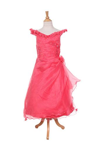 les voiliers robes fille de couleur orange