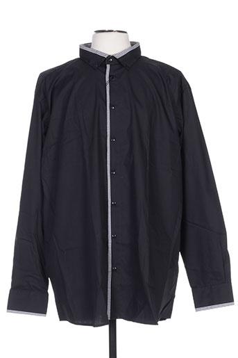 optimal chemises homme de couleur noir