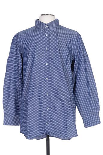 griffe noire chemises homme de couleur bleu