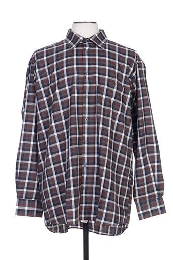 griffe noire chemises homme de couleur marron