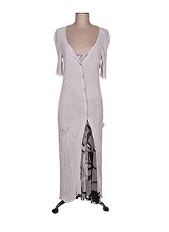 Robe longue gris FUZZI pour femme