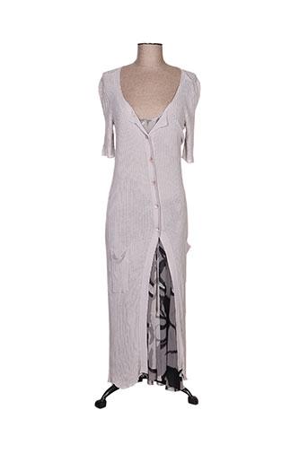 fuzzi robes femme de couleur gris