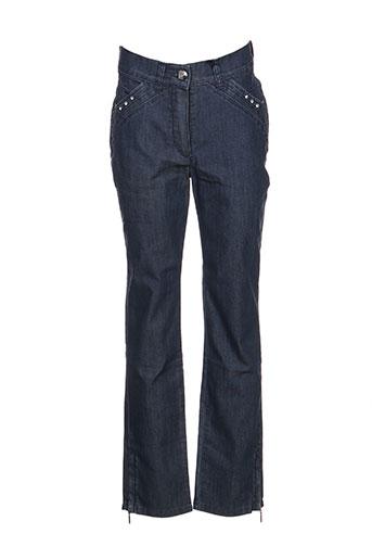 Pantalon 7/8 bleu DISMERO pour femme
