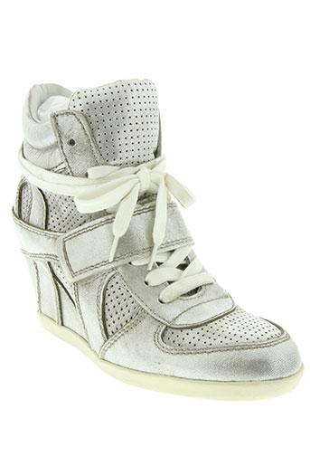 ash chaussures femme de couleur gris