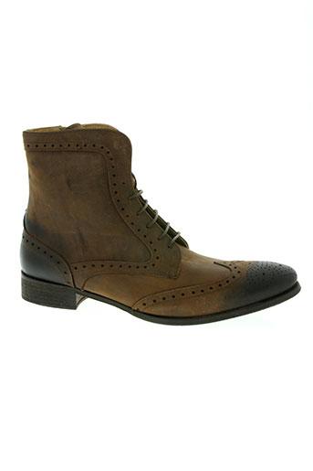 les fleches chaussures homme de couleur marron